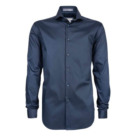 Dark blue stretch slim fit shirt 3100257-190-280-000