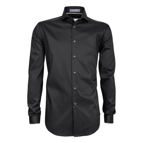 Zwart stretch slim fit overhemd 3100257-290-280-000