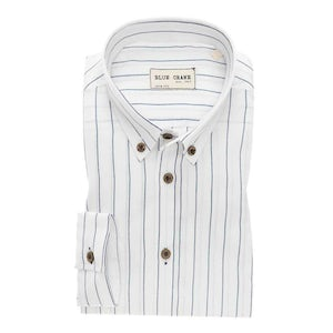 White/blue striped slim fit shirt 3100593-910-000-000