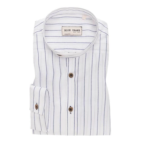 White/blue striped slim fit shirt 3100594-910-000-000