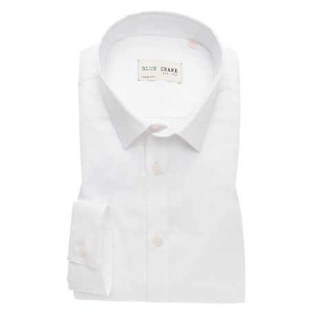 White organic cotton slim fit shirt 3100670-910-000-000