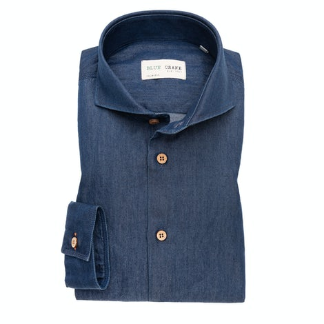Denim slim fit casual shirt 3100702-170-000-000