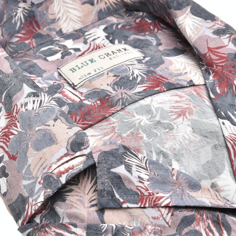 Multicolor print slim fit casual shirt with short sleeves 3100844-101-000-000