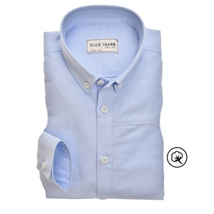 Light blue bio cotton slim fit shirt 3100857-130-130-000